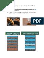 Aplicaciones de Nìquel en La Ingenieria Mecànica