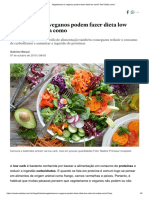 Vegetarianos e Veganos Podem Fazer Dieta Low Carb_ Sim! Saiba Como