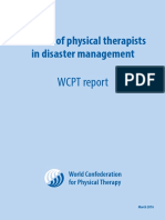 Physiotherapy in disaster menegement