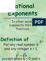 rational exponent