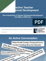 Effective Teacher Professional Development PRESENTATION