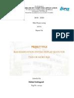 Mini Project Report Template 2019-20