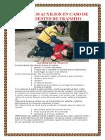 Primeros Auxilios en Caso de Accidentes de Transito