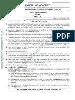 Shankar IAS Prelims 2019 CSAT Test 1