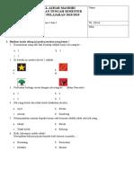PTS KELAS 1 (Tema 5 Subtema 1 Dan 2) - Websiteedukasi.com