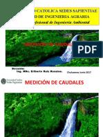 hidrológica medición de caudales