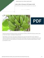 Biomassa de Banana Verde é Nutritivo e Bastante Saudável