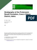 Stratigraphy of Proterozoic Revett Fm Of01-319