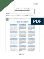 Guia Medicion Trabajo Con El Calendario