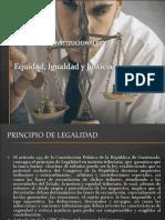 Equidad, Igualdad y Justicia