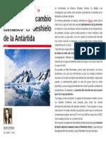 Así Afectará Al Cambio Climático El Deshielo de La Antártida