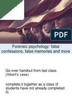 Forensic Psychology Lesson Plan