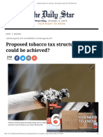 Proposed Tobacco Tax Structure- What Could Be Achieved