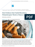 How Evidence Has Fueled Bloomberg Philanthropies' Work in Tobacco Control _ Health Affairs
