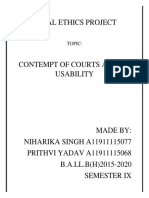Contempt of Court Project