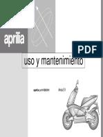 Uso y mantenimiento Aprilia Area 51