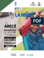 ABC NACIONALIDAD NIÑOS Y NIÑAS MIGRANTES EN COLOMBIA