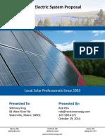 King Solar Electric Proposal Garage Roof 18 Renesola 255w