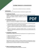 Especificaciones Tecnicas de Centro de Salud