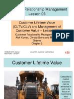 CRM - Lesson 05 - Customer Lifetime Value