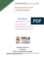 Automatic Railway Gate Control System 20