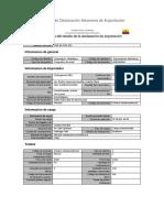 Ejemplo de Declaración Aduanera de Exportación