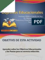 Obejtivos Educacionales