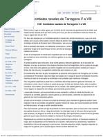 1641 Combates Navales de Tarragona v a VIII