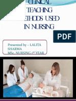 Clinicalteachingmethodsusedinnursing 1607021825