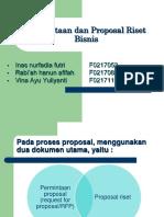 Metodologi Penelitian Bisnis Proposal Riset Bisnis