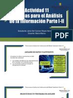 Actividad 11 Técnicas Para El Análisis de La Información Parte I y II