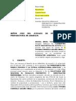 Solicito Desalojo Preventivo Ymisnistracionusurpacion.