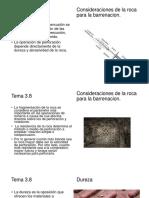 Consideraciones de La Roca Para La Barrenacion
