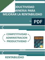 Productividad en Mineria Para Mejorar La Rentabilidad