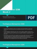 Manajemen SDM Week 2