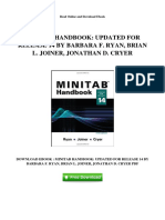 Minitab Handbook Updated for Release 14 by Barbara f Ryan Brian l Joiner Jonathan d Cryer