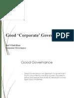 Lesson 4 Good Corporate Governance