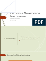 Corporate Goverance Mechanisms
