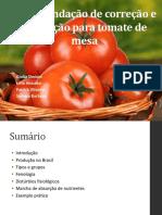 Adubação de tomate de mesa