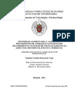 Seguridad Alimentaria Y Alimentos Procedentes de Animales Clonados Por Transferencia Nuclear de Células Somáticas Aspectos Científicos, Éticos Y Jurídicos