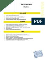 Especialidad Artes y Hobbies Filatelia (1)