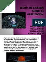 Teoría de Einstein Sobre La Gravitación.