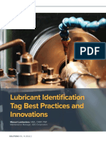 Lubrication Identification Tag Best Practices and Innovations