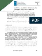 UM ESTUDO COMPARATIVO DE ALGORITMOS DE CRIPTOGRAFIA DE CHAVE PÚBLICA