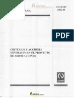 COVENIN 2002-1988 Criterios y Acciones para Proyectos de Edificaciones.pdf