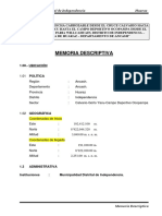 1. Memoria Descriptiva Tramo Calvario Campo Ocopampa