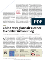 China Test Giant Air Cleaner to Combat Urban Smog