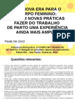 O CORPO NO TRABALHO De PARTO.odp
