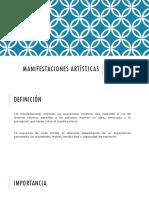 MANIFESTACIONES ARTÍSTICAS presentacion