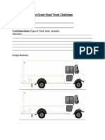 food truck worksheet